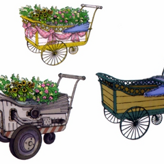 Flower wagons