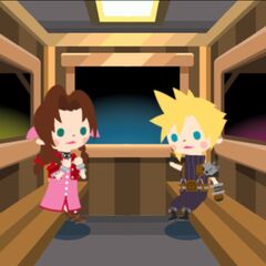 Cloud and Aerith's Gold Saucer date.