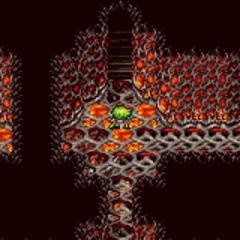 Lava damage floor (GBA).