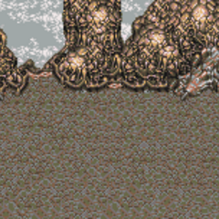 Battle background on the island (GBA).