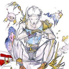 Bartz concept art by Yoshitaka Amano.