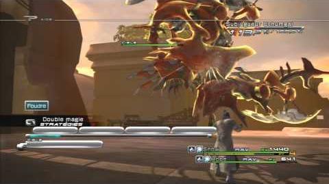 Final Fantasy XIII Combat contre Subjugueur Ushumgal