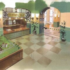 Concept art of the hotel.