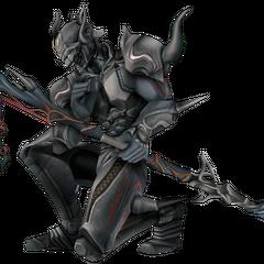 Aparência do DS como um Cavaleiro Sombrio.