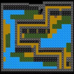 Cave of Mysidia's Fourth Floor (NES).