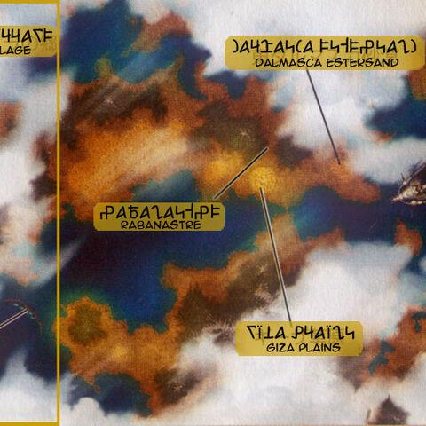 Mapa Mundi em <i>Revenant Wings</i>.