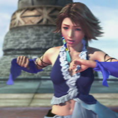 Yuna can't stop dancing as a side effect of the dressphere.