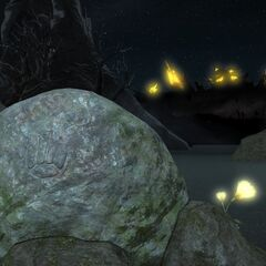 Stone with Byregot's symbol <i>Final Fantasy XIV</i>.