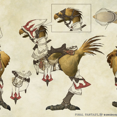 Chocobo White Mage Barding.