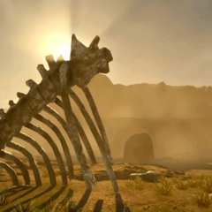 Скелет чудовища.