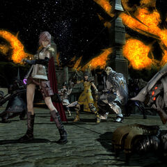 Lightning appears in Eorzea.