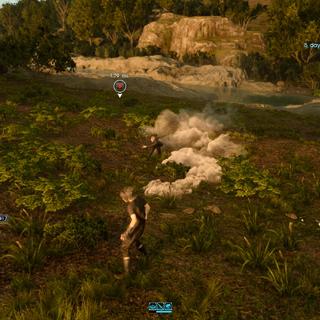 Midgardsormr buries underground.