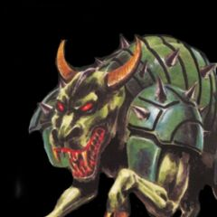 Behemoth's European artwork in <i>Final Fantasy Mystic Quest</i>.