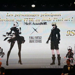 <i>NieR: Automata</i> collaboration featuring 2B and 9S announced at the <i>Final Fantasy Brave Exvius</i> FAN FESTA in Paris.