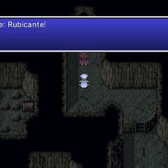 Edge talks to Rubicante in <i>Final Fantasy IV: The After Years</i>.
