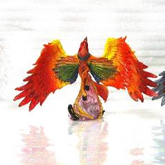 Phoenix from Final Fantasy Creatures Kai Vol 5.