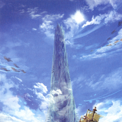 Akira Oguro artwork of the Tower of Babil (DS).
