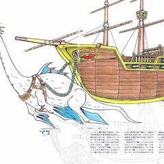 Сильдра тянет пиратский корабль Фарис.