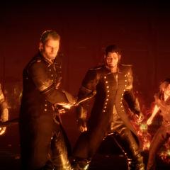 Кор присоединяется к бою с Цербером в <i>Royal</i> издании.