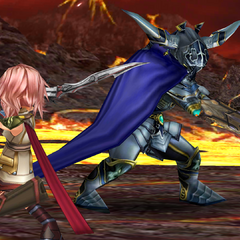 Lightning fights Garland in Chapter 8.