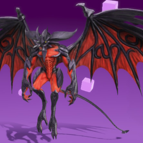 Diabolos as he appears in-game.