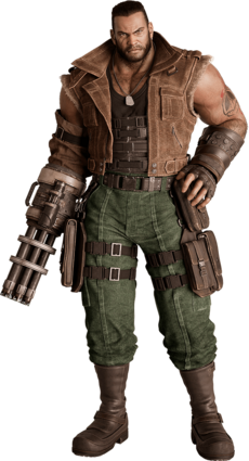 Barret Wallace from FFVII Remake render