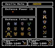 FFMQ Armor Menu