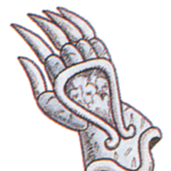 Official art of Mythril Gloves from <i>Final Fantasy III</i>.