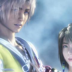 Tidus appears in Yuna's dream in <i>Final Fantasy X-2</i>.