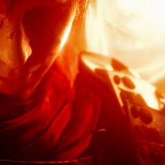 Ace durante a cena secreta de <i>Final Fantasy Type-0 HD</i>.