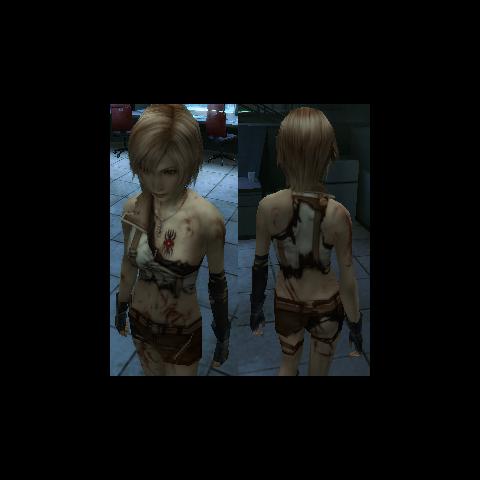Aya Brea wearing damaged Lightning's <a href=