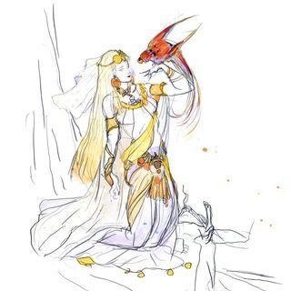 Альтернативная работа Ёситаки Амано, изображающая Уне.
