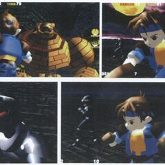 Various images of Locke, Terra, and Shadow.
