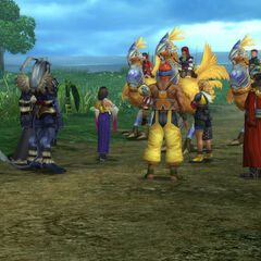 Clasko with the Chocobo Knights in <i>Final Fantasy X</i>.