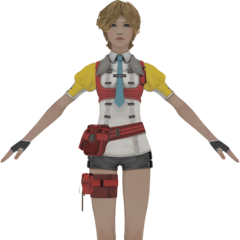 Alyssa's in-game model.