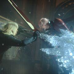 Лайтнинг сражается против Сноу.