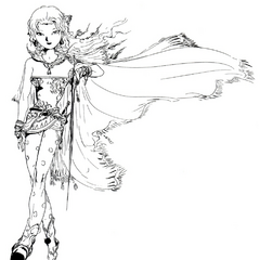 Yoshitaka Amano artwork for the Advance version of <i>Final Fantasy VI</i>.