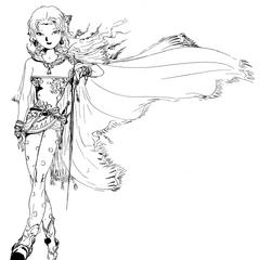 Рисунок Терры работы Ёситаки Амано для <i>Final Fantasy VI</i> версии <i>Advance</i>.