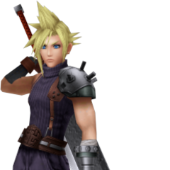 In-game render of Cloud.
