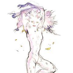 Рисунок Терры в форме Эспера работы <a href=