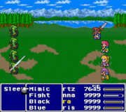 FFV SNES Bartz Graphic Glitch