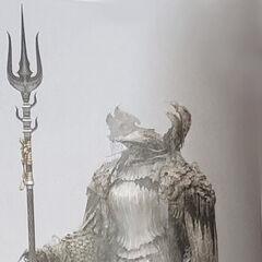Король-Оракул с трезубцем.