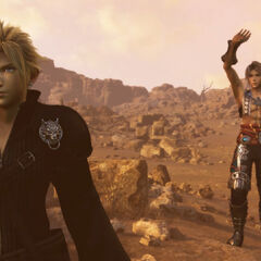 Vaan saying goodbye to Cloud.
