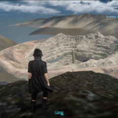 View of the whole quarry via the out of bounds glitch.