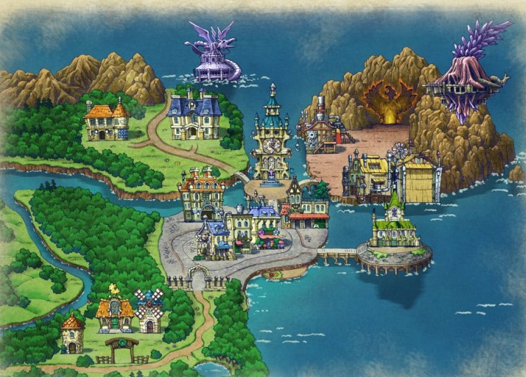 Awesome Final Fantasy 4 World Map Galleries - Printable Map - New ...