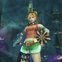 Rikku's underwater victory pose.