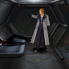 Seifer confronts Squall at the prison.