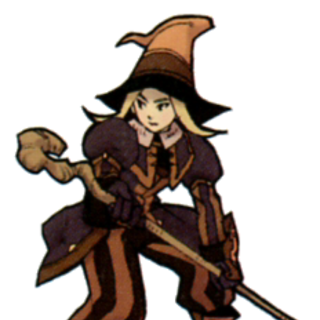Promotional artwork of the Black Mage job class by Yuzuki Ikeda.