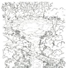 Concept art of the Chocobo Sanctuary.