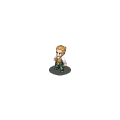 Balthier's Sky Pirate sprite in <i>Final Fantasy Tactics S</i>.